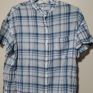 Wilfred Free plaid blue button down dress